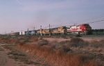 AT&SF 902 and Five More Pull in the Desert in 1994